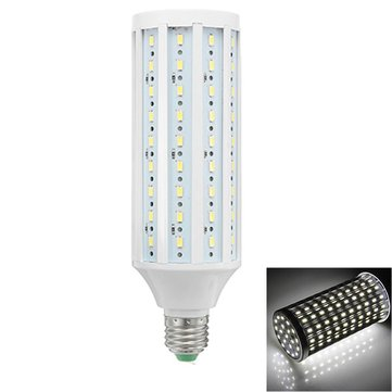 ZX E27 18W SMD5730 1500-2000LM Super Brightness Pure White LED Corn Light Bulb AC/DC12-60V