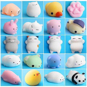 Mochi Squishy Cat Kitten Seal Squeeze Cute Healing Toy Kawaii Collection Stress Reliever Gift Decor