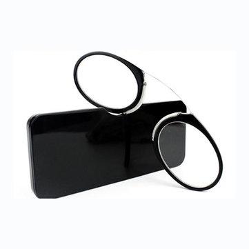 KCASA Nose Resting Portable Pocket Wallet Presbyopic Hypermetropic Reading Glasses