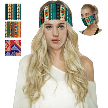 Multi-purpose Digital Printed Yoga Elastic Hair Band Sport Face Mask Headband Gym Anti-Slip Antiperspirant Hair Band