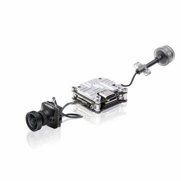 Caddx Nebula Nano Kit Vista HD Digital System 5.8GHz FPV Transmitter VTX+2.1mm 150° 720P 60fps FPV Camera AIO for DJI Digital Unit Googles - Black 8CM COAXIAL CABLE