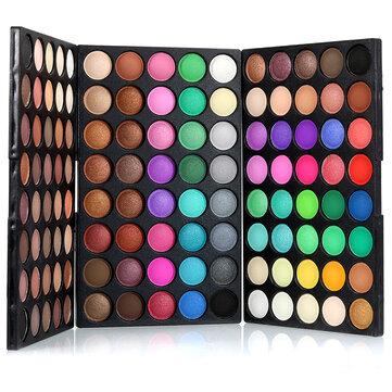 POPFEEL 120 färger Mini Eyeshadow Palette Set Kit Matt Glitter Shimmer Kosmetisk Portable Eye Makeup