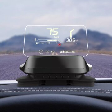 Carrobot Car HUD Head Up bluetooth Display OBD Driving Data Overspeed Intelligence Warning From