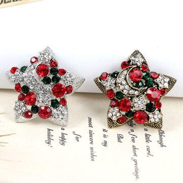 1 Pc Quà tặng Giáng sinh năm mới Star Trâm Thiết kế thời trang Colorful Kim cương trâm Giáng sinh cho phụ nữ