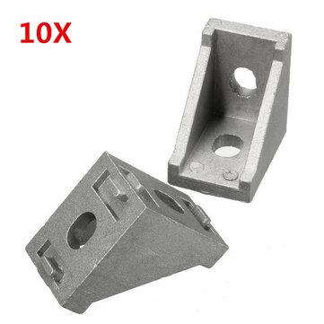 Suleve ™ AJ28 10pcs 28x28mm Joint en Alliage d'Aluminium du Coin d'Angle Droit Accessoires de Meubles