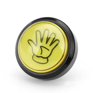 60MM 6CM Mano gialla LED Pulsante per console di gioco Arcade Ricambio fai da te