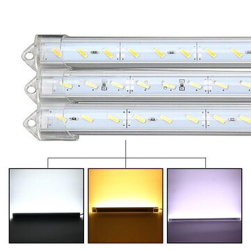 50cm 9W 1800lm 36 SMD 7020 Waterproof IP44 LED Rigid Strip Cabinet Light DC 12V