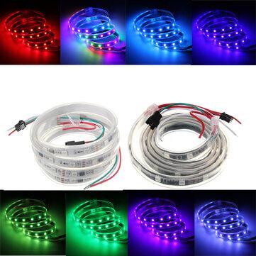Đèn LED WS2811 1M 48 SMD 5050 RGB Màu mơ không thấm nước IP65 DC 12V