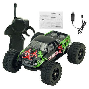 9115M 1/32 2.4G 2WD 4CH Mini Kecepatan Tinggi Radio RC Racing Mobil Batu Crawler Off-Road Truk Mainan