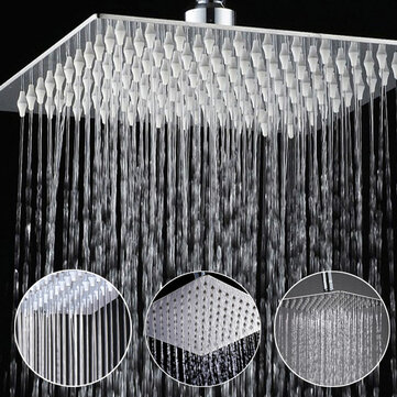 8 Inch Stainless Steel Bathroom Square Silver Pressurize Rainfall Shower Head