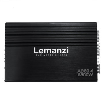 5800W 12V High Power Four-way Amplifier Car Amplifier HiFi Audio Stereo Subwoofer