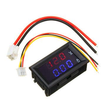 Mini Digital Voltmeter Ammeter DC 100V 10A Panel Amp Volt Voltage Current Meter Tester 0.56