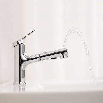 DABAI Bathroom Basin Sink Faucet With Pull Out Rinser Sprayer Gargle 2 Mode Mixer Tap from XIAOMI youpin