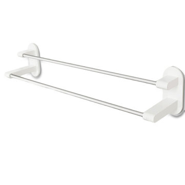 Happy Life 8H Towel Rack Holder WHITE Tape Double Rod Storage Washcloth Towel Hanger Bathroom Accessories NO-Punching from Xiaomi Youpin