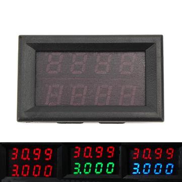 RIDEN® 0-33 V 0-3A Dört Bit Gerilim Akım Ölçer DC Çift Dijital LED Ekran Voltmetre Ampermetre