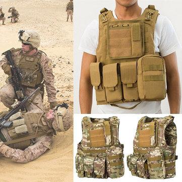 Coumouflage軍事戦術ベストMolle Combat Assault保護服CSシューティング狩猟ベスト