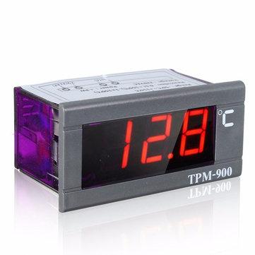Mini -50°C to 110°C 220V LED Digital Temperature Panel Meter Thermometer With Sensor