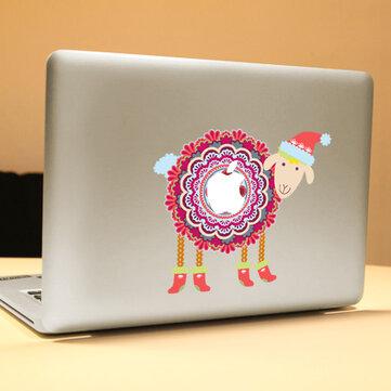 PAG Winter Sheep Dekorativ Laptop Dekal Fjernbar Boble Gratis Selvklebende Hud Klistremerke