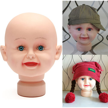 Children Kid Mannequins Manikin Head Model Stand For Hats Wig Display