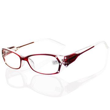 1.0-4.0 Diopter Lady Reading Glasses Spring Hinge Modern Rhinestone Crystal Diamond Design for Women