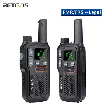 Retevis RB618 Mini Walkie Talkie Rechargeable Walkie Talkie PTT PMR446 Long Range Portable Two Way Radio Hunting
