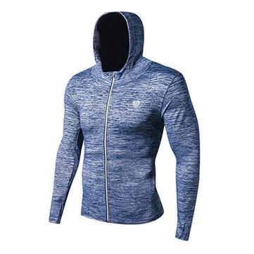 Ocio para hombres Running Aptitud Camisetas deportivas Trajes de entrenamiento de baloncesto de manga larga secos Speed