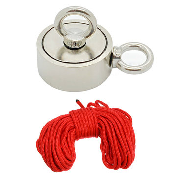 Double Side 94mm 600KG Neodymium Recovery Magnet With 10m Rope Salvage Tool Strong Recovery Fishing Kits