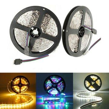 5M 300 LEDs SMD 3528 Flexible LED Strip Light Non-Waterproof DC 12V