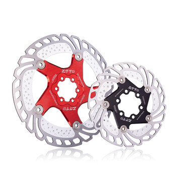 ZTTO 140/160/180/203mm Aluminum Alloy Steel Metal Heat Dissipation Six Spike Disks Bicycle Floating Discs Mountain Bike Floating Discs