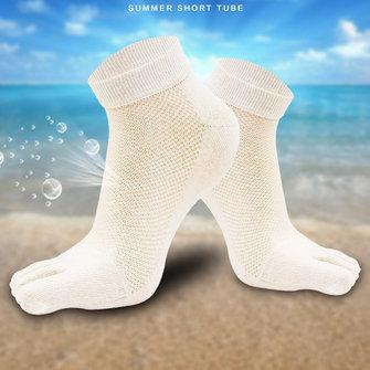 पांच पैर की अंगुली मोजे पुरुषों कपास सांस लेने योग्य जाल लघु ट्यूब deodorant पसीना पैर की अंगुली मोजे