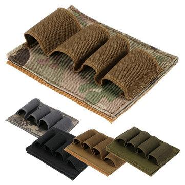 4ラウンドショットガン弾丸ダンプポーチホルダーリロードストリップ弾薬キャリア戦術狩猟銃アクセサリー