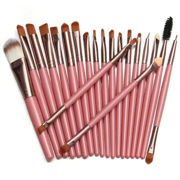 20pçs Conjunto de Escovas de Maquiagem Kit Pincel Fundação Líquido Sombra Delineador Pó Cosmético