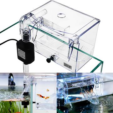 अलगाव के लिए एक्वेरियम पारदर्शी घर इनक्यूबेटर बॉक्स हैचर कैज बाहरी हैंग-ऑन ब्रेडर मछली प्रजनन