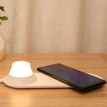 小米Yeelight无线充电器带LED夜灯磁吸式快速充电适用于iPhone三星华为小米手机