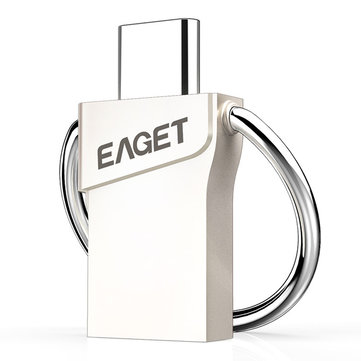 Original EAGET CU66 Type-C och USB3.0 2 in 1 Flash Kör för Smartphone Computer Laptop