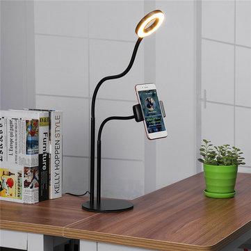 Evrensel Canlı Akış Dolgu Işığı Masaüstü Telefon Tutucu iPhone Xiaomi Cep Telefonu için Özçekim Standı