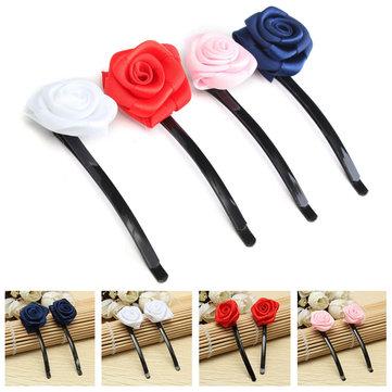 6st Rose Rose Hair Pins Grips Clips Tillbehör till Wedding Party