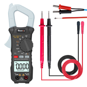 MUSTOOL X1 Pocket 6000 Counts True RMS Clamp Meter AC/DC Voltage&Current Digital Multimeter Automatic Digital Meter Square Wave Output u03a9/V/A/Diode/Frequency/Continuity Test