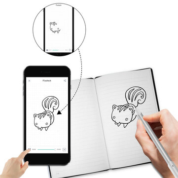 NEWYES 4P100B Cloud Pen Smart Writing Set Notebook Electronic Notepad Paper Screen Synchronous Pen Business Meeting Writing Table
