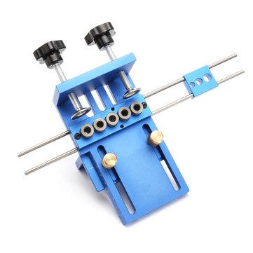Aluminum Alloy Pocket Hole Jig Dowelling Jig Set Wood Dowel Drilling Position Jig Woodworking Tool