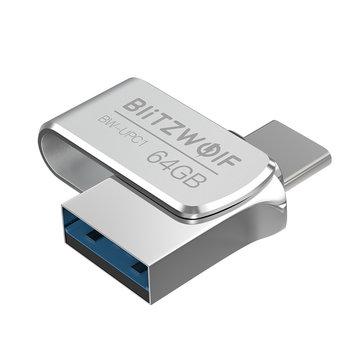BlitzWolf® BW-UPC1 2-in-1 Type-C USB 3.0 Aluminium Alloy 16GB 32GB 64GB OTG USB Flash Drive
