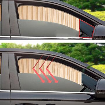 Universal Summer Satin Coche Ventana lateral Cortina parasol Visera parasol Cubierta UV Protector Auto Styling