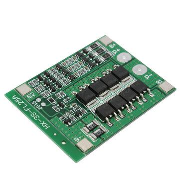 3S 11.1V 25A 18650 Li-ionリチウム電池BMS保護回路基板、バランス機能付き