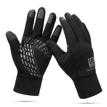 Hombre Mujer Warm Impermeable Cycling Sport Guantes Mitones de mano con pantalla táctil Finger Finger