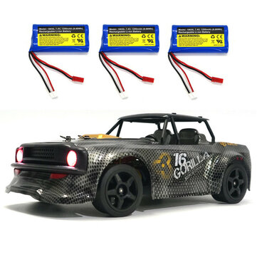 SG 1604 RTR Several Battery 1 or 16 2.4G 4WD 30km or h RC Car LED Light Drift On Road Proportional Vehicles Model Coupon Code and price! - $69