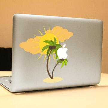PAG Coconut Tree Dekorativ Laptop Dekal Removerable Bubble Free Selvklebende Skin Sticker