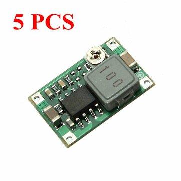 5Pcs Mini DC Adjustable Power Supply Buck Module Step Down Module