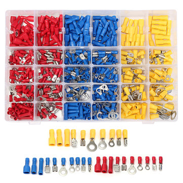 Excellway® EC09 480Pcs Insulated Electrical Wire Connector Terminal Crimp Connectors Kit Box