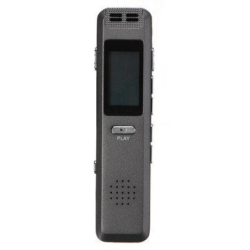 Portable 8GB Digital Audio Sound Registratore vocale Lettore MP3 Registrazione automatica