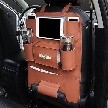 Многофункциональная кожа PU Авто Задняя сумка для хранения Сумка Держатель для купе с несколькими карманными телефонами Органайзер